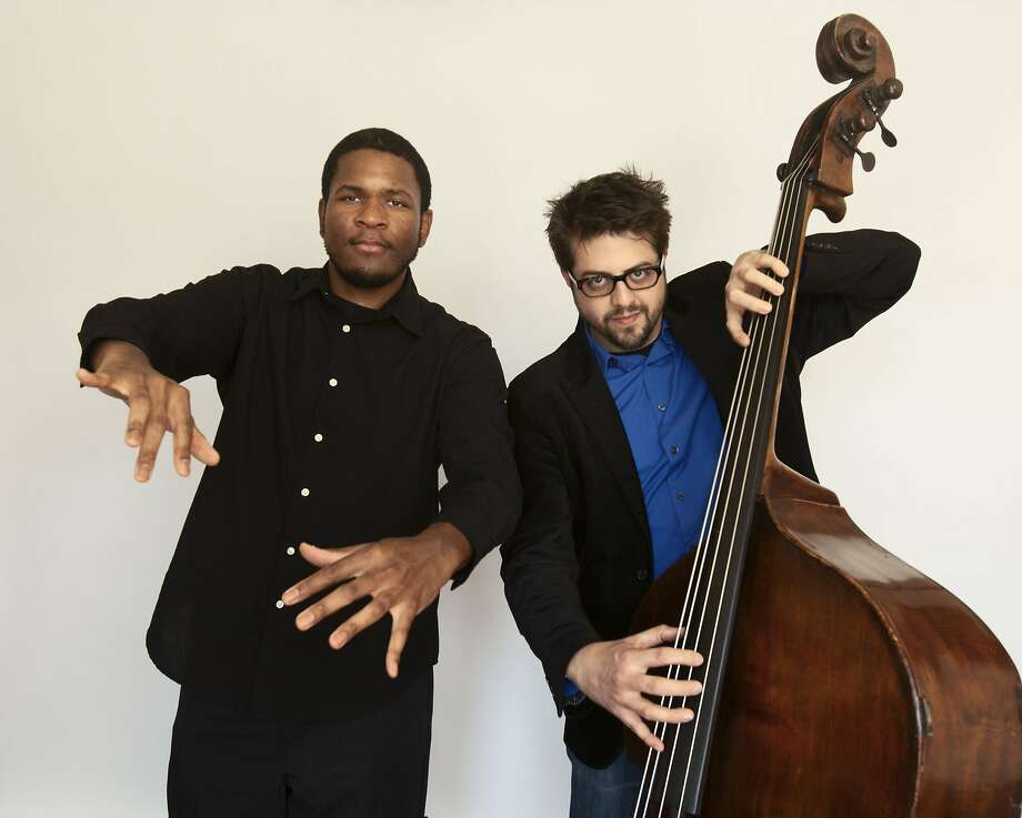 Pianist Joshua White (left) and bassist Jeff Denson play Sunday  at Cafe Stritch in San Jose, next Sunday at Duende in Oakland. Photo: Peter Varshavsky