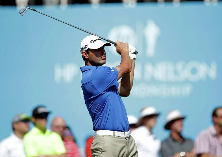 Shawn Stefani hits off the 17th tee during the second round of the Byron Nelson Championship golf tournament, Friday, May 16, 2014, in Irving, Texas. (AP Photo/Tony Gutierrez) Photo: Tony Gutierrez, STF / AP