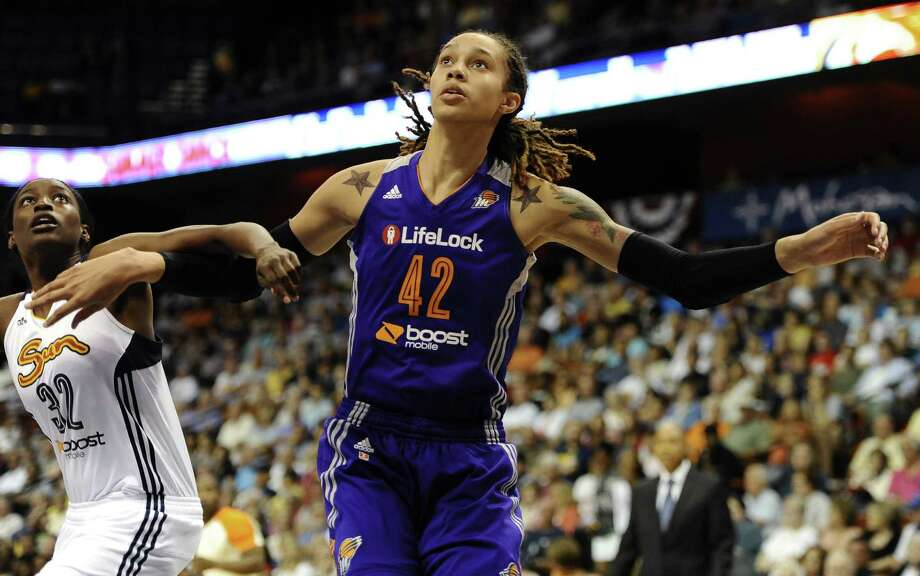 Former Baylor and current Phoenix Mercury player Brittney Griner, who has publicly identified herself as lesbian, says she's happy with the league's decision. Photo: Jessica Hill / Associated Press / FR125654 AP