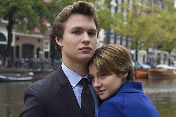 "Gus (Ansel Elgort) and Hazel (Shailene Woodley) try to make their wishes come true in the short time they have together in ""The Fault in Our Stars,"" adapted from John Green's bestselling novel. Movie opens June 6. Photo credit: James Bridges.   DF-19123r -- Hazel (Shailene Woodley) and Gus (Ansel Elgort) take in the sights during an unforgettable trip to Amsterdam."
