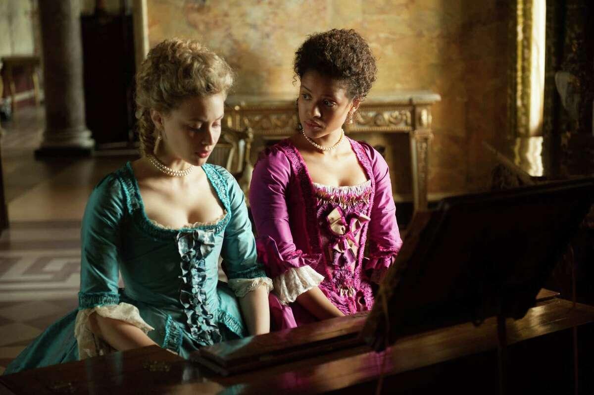 Sarah Gadon, left, stars as Elizabeth and Gugu Mbatha-Raw as Dido in
