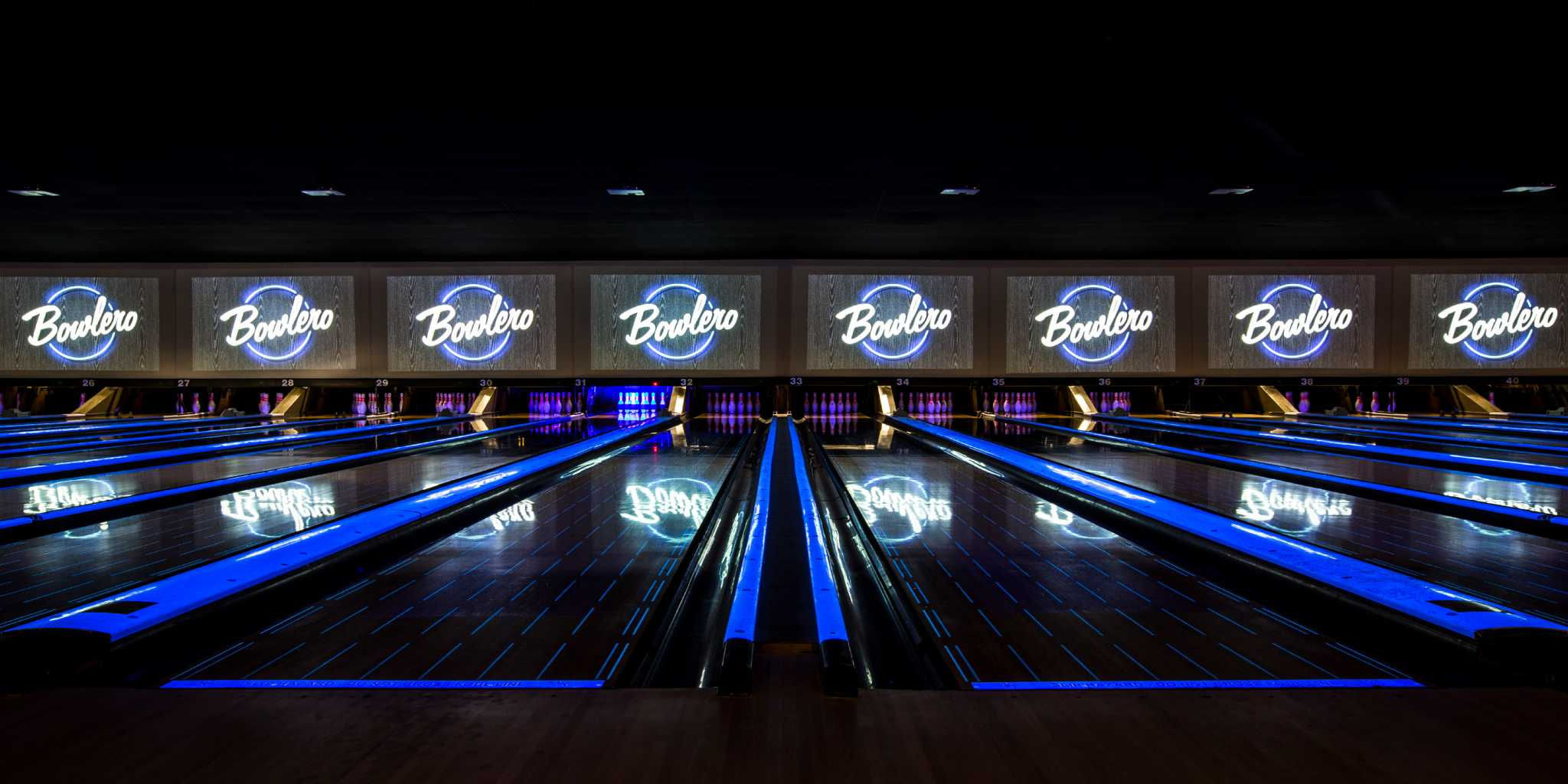 Retro Modern Bowling Alley Bowlero Opening In San