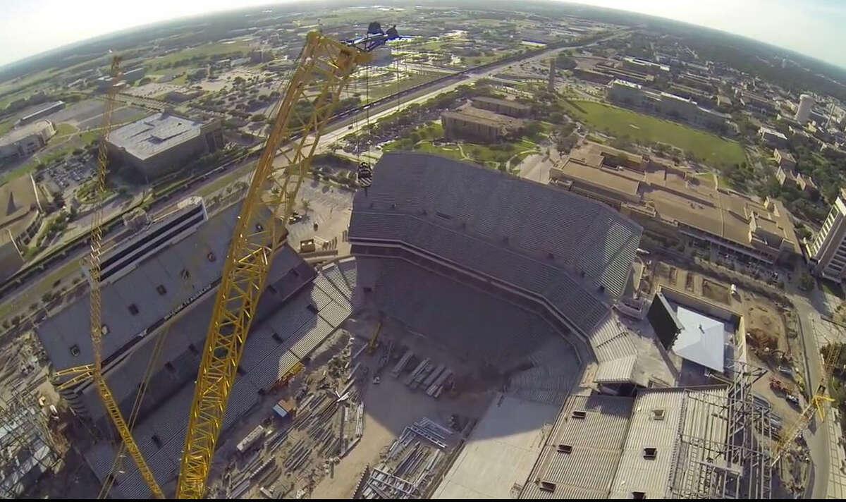 Kyle Field renovation, May 19, 2014.