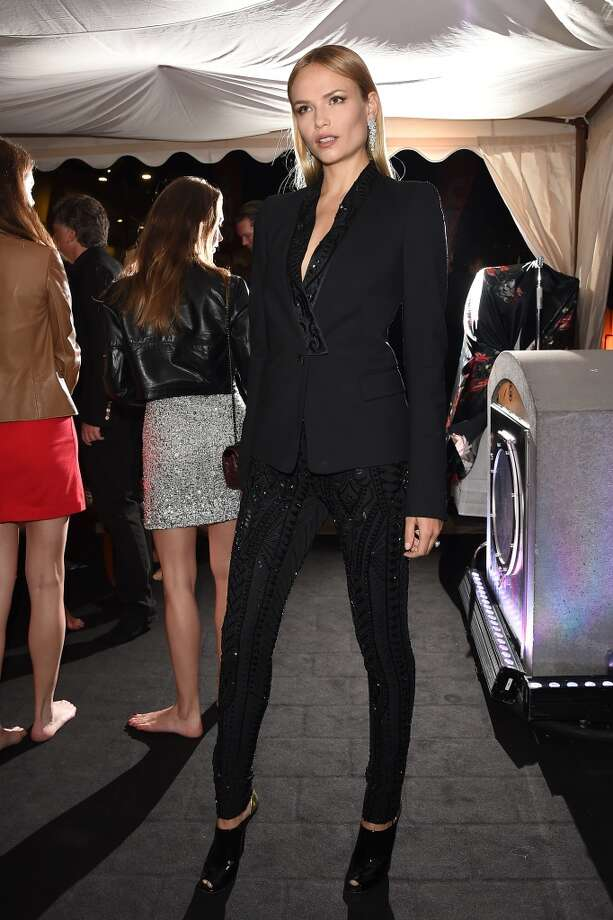 "Natasha Poly attends the ""Roberto Cavalli Annual Party Aboard"" : Outside Arrivals at the 67th Annual Cannes Film Festival on May 21, 2014 in Cannes, France. Photo: Jacopo Raule, FilmMagic"