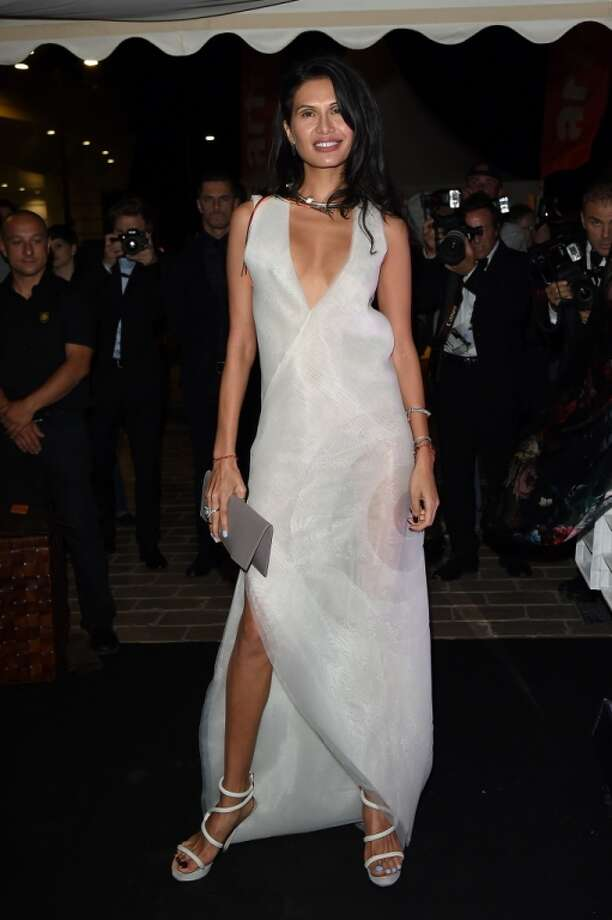 "Goga Ashkenazi attends the ""Roberto Cavalli Annual Party Aboard"" : Outside Arrivals at the 67th Annual Cannes Film Festival on May 21, 2014 in Cannes, France. Photo: Jacopo Raule, FilmMagic"
