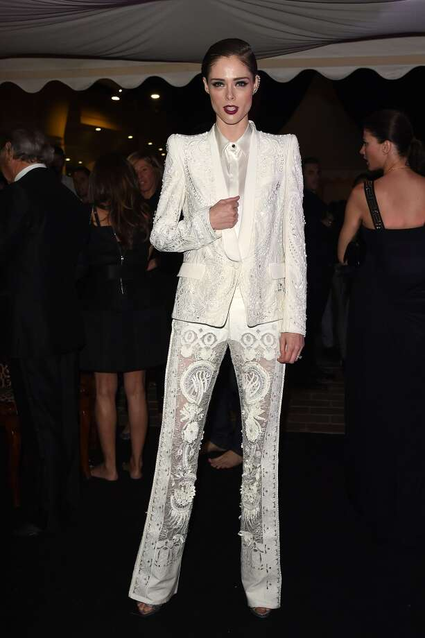 """Coco Rocha attends the """"Roberto Cavalli Annual Party Aboard"""" : Outside Arrivals at the 67th Annual Cannes Film Festival on May 21, 2014 in Cannes, France. Photo: Jacopo Raule, FilmMagic"""