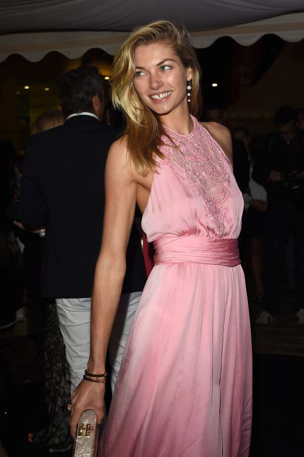 "Jessica Hart attends the ""Roberto Cavalli Annual Party Aboard"" : Outside Arrivals at the 67th Annual Cannes Film Festival on May 21, 2014 in Cannes, France. Photo: Jacopo Raule, FilmMagic"