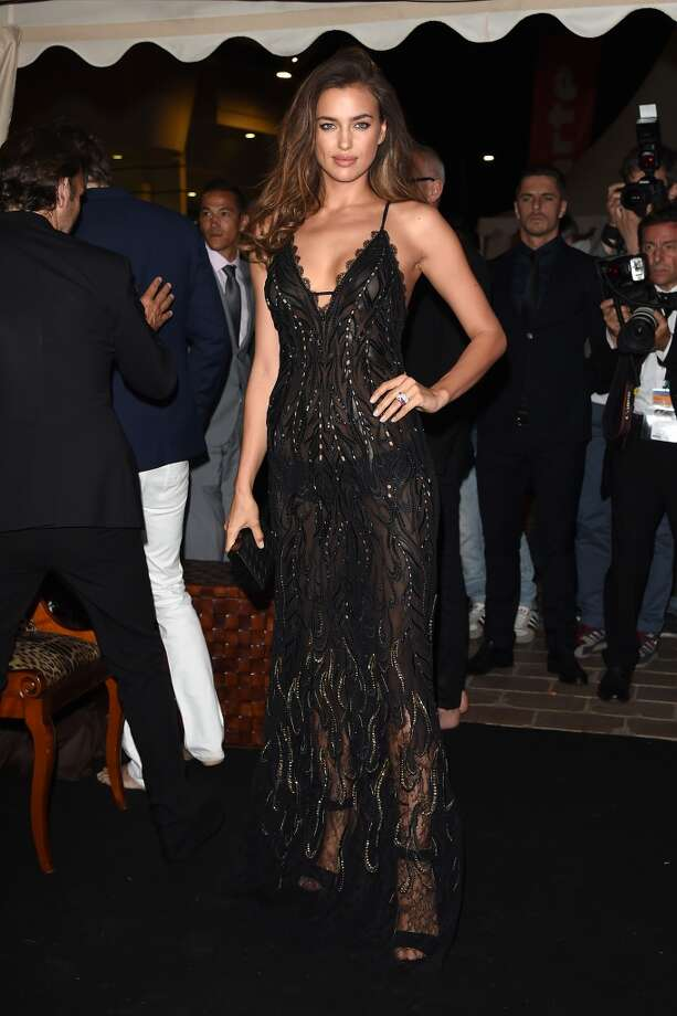 "Irina Shayk attends the ""Roberto Cavalli Annual Party Aboard"" : Outside Arrivals at the 67th Annual Cannes Film Festival on May 21, 2014 in Cannes, France. Photo: Jacopo Raule, FilmMagic"