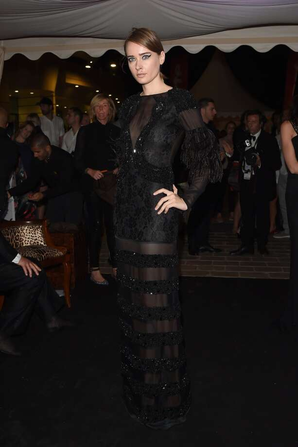 "Olga Sorokina attends the ""Roberto Cavalli Annual Party Aboard"" : Outside Arrivals at the 67th Annual Cannes Film Festival on May 21, 2014 in Cannes, France. Photo: Jacopo Raule, FilmMagic"