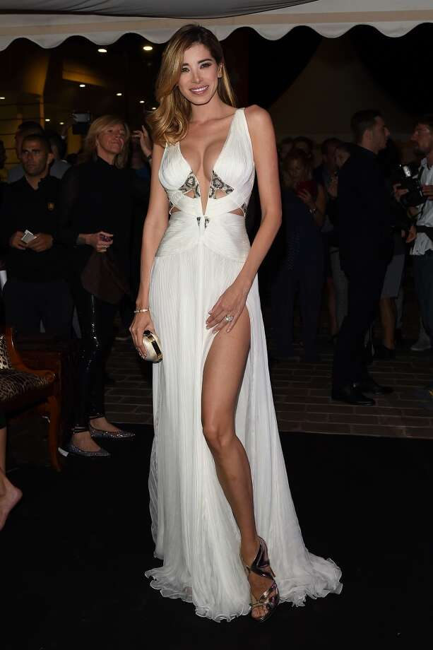 """Aida Yespica attends the """"Roberto Cavalli Annual Party Aboard"""" : Outside Arrivals at the 67th Annual Cannes Film Festival on May 21, 2014 in Cannes, France. Photo: Jacopo Raule, FilmMagic"""