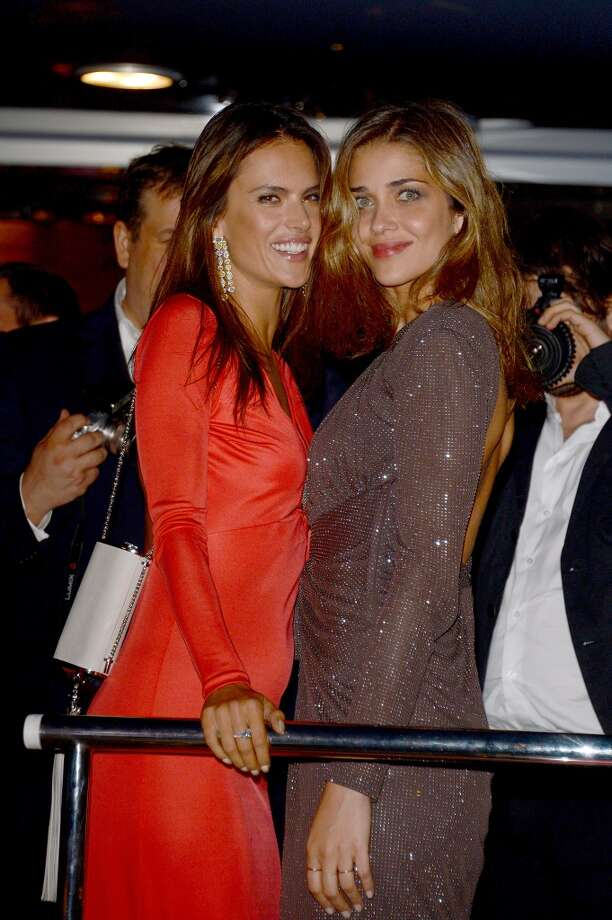 Alessandra Ambrosio and Ana Beatriz Barros attend the Roberto Cavalli yacht party at the 67th Annual Cannes Film Festival on May 21, 2014 in Cannes, France. Photo: Luca Teuchmann, Getty Images