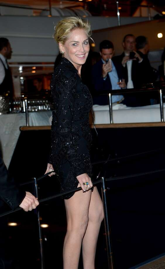 Sharon Stone attends the Roberto Cavalli yacht party at the 67th Annual Cannes Film Festival on May 21, 2014 in Cannes, France. Photo: Luca Teuchmann, Getty Images