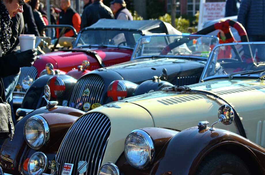 Several hundred car enthusiasts turned out for the Caffeine and Carburetors Car Show at Zumbach's,  which lined both Pine Street and Elm Street, on Sunday, April 6, 2014, in New Canaan, Conn. Photo: Jeanna Petersen Shepard, Freelance Photo / New Canaan News freelance