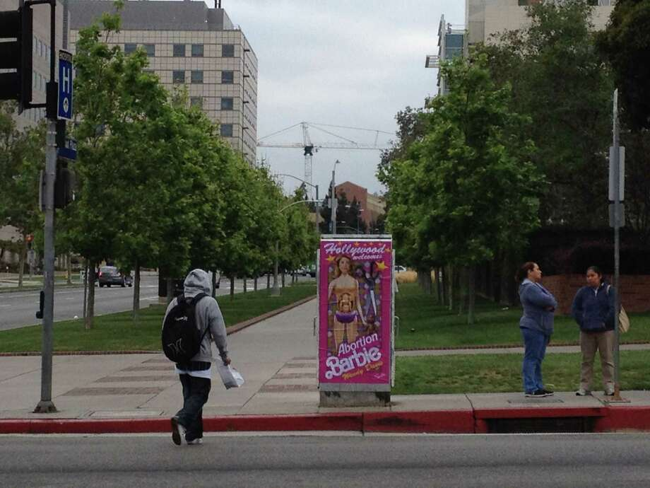 Poster in Hollywood funded by Midland conservative woman Kathryn Stuard (photo via Sabo) Photo: Courtesy