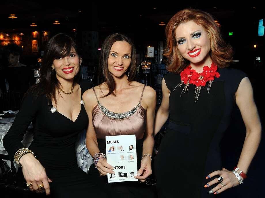 From left: Karina Barbieri, Gabriela Dror and Yasmine Haddad Photo: Dave Rossman, For The Houston Chronicle