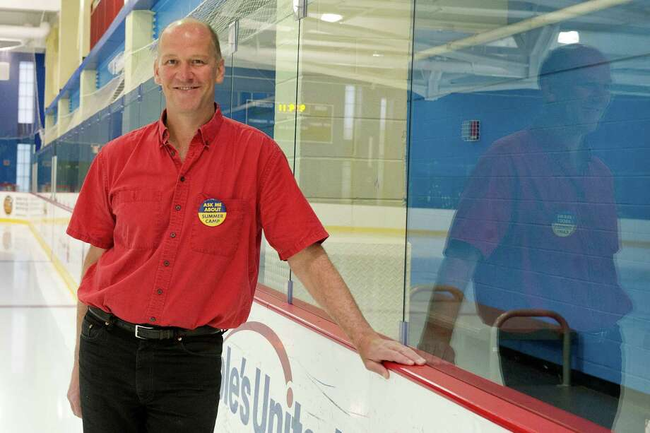 David Tewksbury, co-founder and managing partner of Chelsea Piers New York and Chelsea Piers CT, poses for a photo on on of the Stamford facility's ice rinks on Thursday, May 22, 2014. Photo: Lindsay Perry / Stamford Advocate