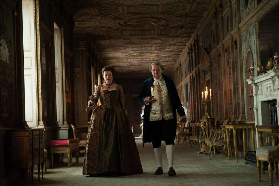 "This photo released by Fox Searchlight shows  Emily Watson, left, as Lady Mansfield and Tom Wilkinson as Lord Mansfield, in a scene from the film, ""Belle.""The movie releases in US theaters on Friday, May 2, 2014.  (AP Photo/Fox Searchlight, David Appleby) ORG XMIT: CAET340 Photo: David Appleby / Fox Searchlight"