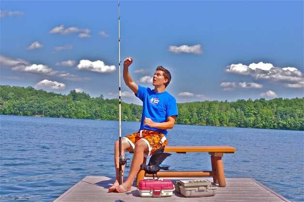 Kenneth Arduini from Albany gets ready for a day of fishing at Burden Lake. (Debra Bailey of Albany)