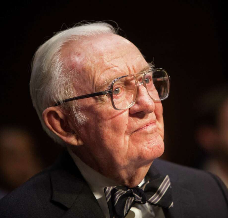 Former Supreme Court Justice John Paul Stevens suggests there be constitutional amendments that would eliminate gerrymandering and allow for limits on campaign contributions and spending. Photo: Allison Shelley / Getty Images / 2014 Getty Images