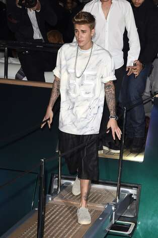 "Justin Bieber attends the ""Roberto Cavalli Annual Party Aboard"" : Outside Arrivals at the 67th Annual Cannes Film Festival on May 21, 2014 in Cannes, France. Photo: Jacopo Raule, FilmMagic"