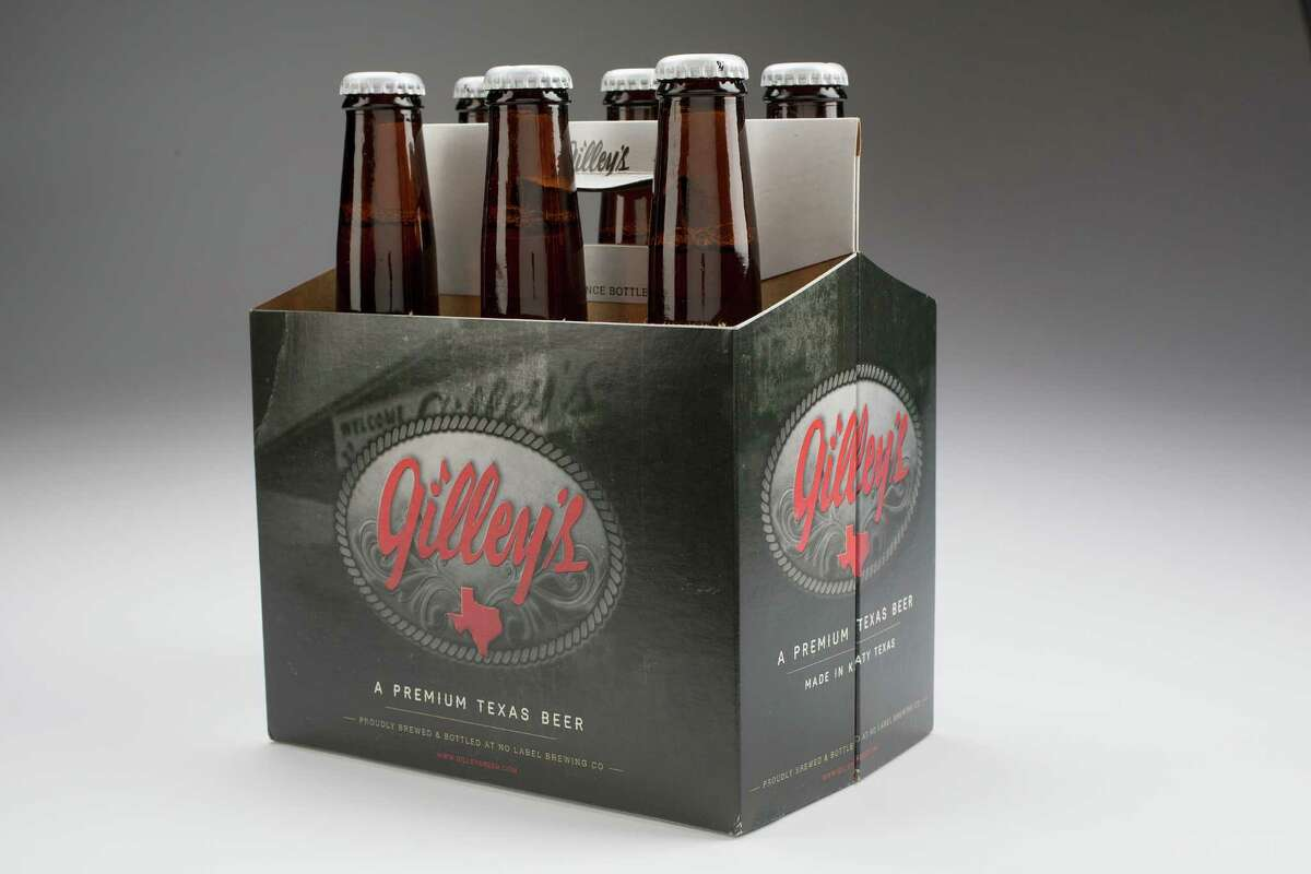 Gilley's beer, brewed on a contract basis by No Label Brewing Co.