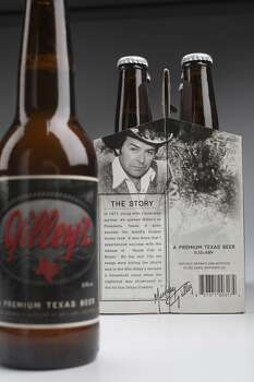The new Gilley's beer, a blonde ale, is rolling out now. It's made by No Label Brewing Co. of Katy. Photo: Johnny Hanson, Houston Chronicle