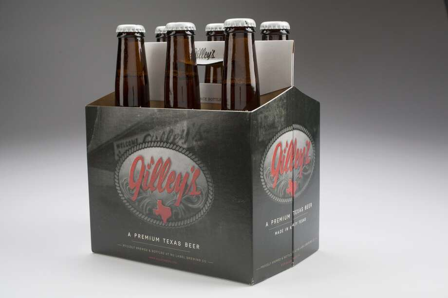 "The new Gilley's beer, a blonde ale, is again touted as a ""premium Texas beer."" Photo: Johnny Hanson, Houston Chronicle"