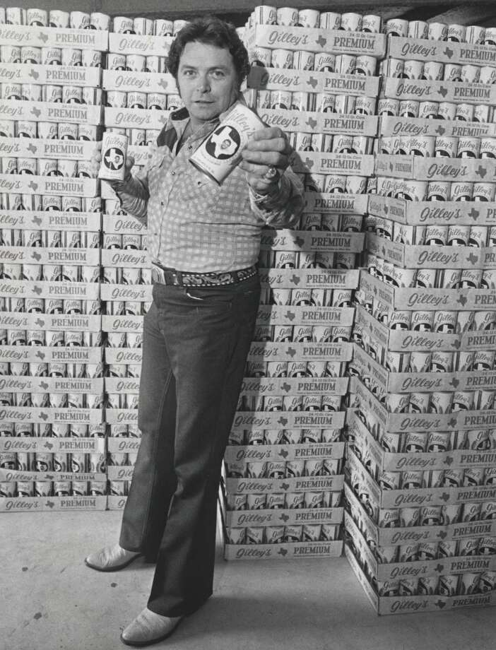 Mickey Gilley stands with Gilley's Beer.      HOUCHRON CAPTION (05/15/2005) SECNEWS:  NAME BRAND:  Honky-tonk legend Mickey Gilley touts Gilley's Beer in 1979. Photo: Fred Bunch, Houston Chronicle