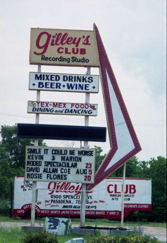 07/1988 - the sign at Gilley's Club Photo: Ben DeSoto, Houston Chronicle
