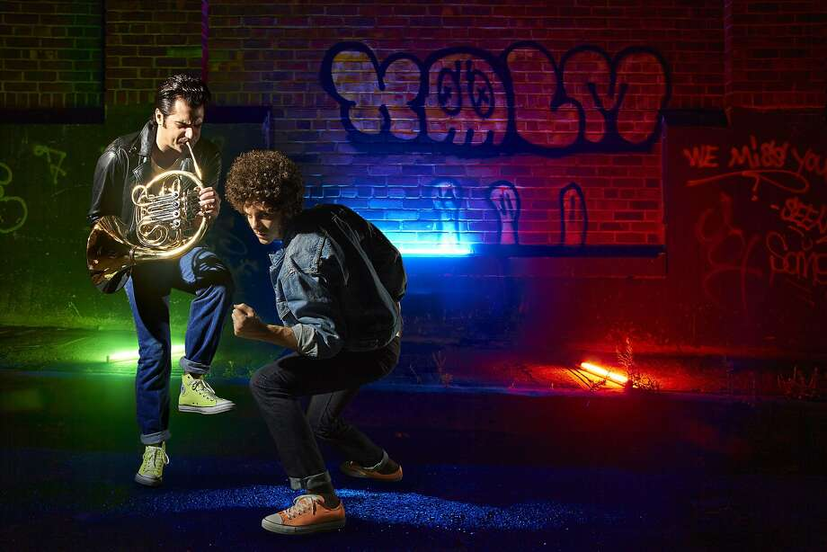 Robert Perlick-Molinari (left) and brother David are the hub of French Horn Rebellion. Photo: Courtesy Of French Horn Rebellio