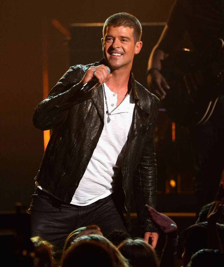 Robin Thicke: This guy? $150-$250K. Photo: Ethan Miller, Getty Images