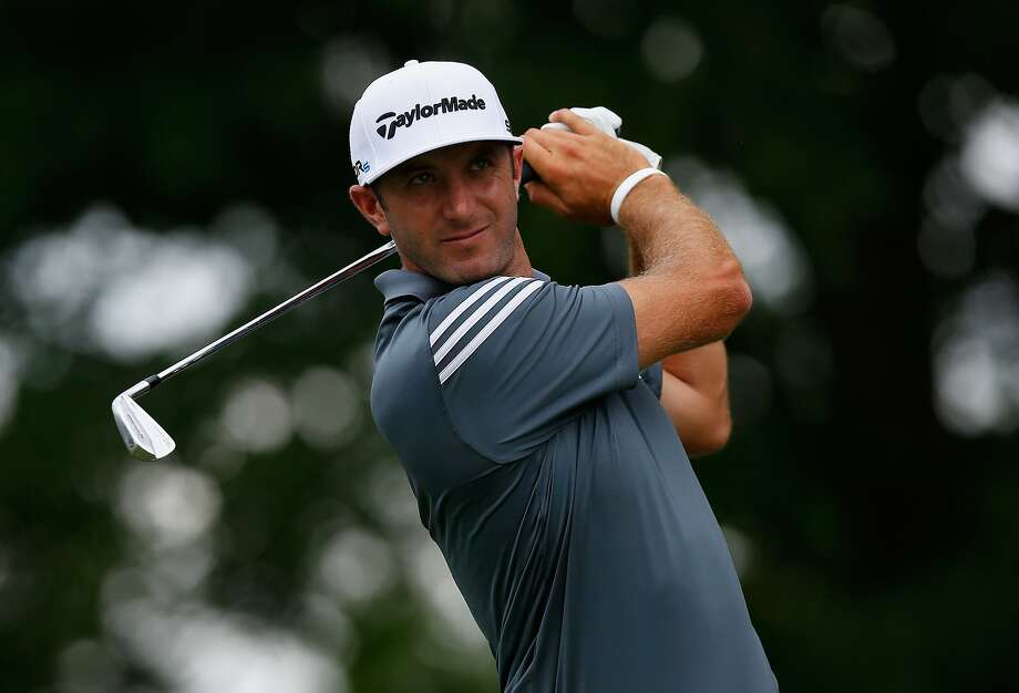 Dustin Johnson's 65 was good enough for the Colonial lead. Photo: Tom Pennington, Getty Images