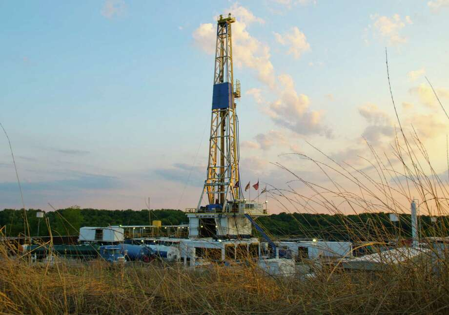 Chesapeake Energy has decided to invest more in the Utica Shale, where it operates this rig in Carroll County, Ohio, about 90 miles south of Cleveland. Photo: Courtesy Photo