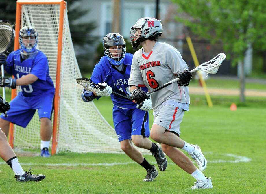 Niskayuna's Ryan Lawson, (#6), during their boys' lacrosse Section II quarterfinal game against LaSalle  on Tuesday May 20, 2014 in Niskayuna, N.Y. (Michael P. Farrell/Times Union) Photo: Michael P. Farrell / 00026942A