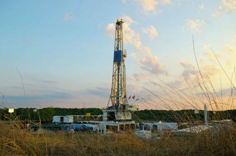 Shale producers like Chesapeake Energy, which operates this rig in Ohio's Utica Shale, rely on debt that could be less available if the Federal Reserve raises interest rates.