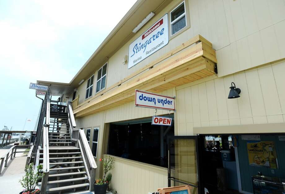Pictured is the facade of the Stingaree Marina Restaurant and the Down Under Bar and Grill. Crystal Beach and the Bolivar Peninsula is home to several quality restaurants and bars. Photo taken Saturday 5/10/14 Jake Daniels/@JakeD_in_SETX