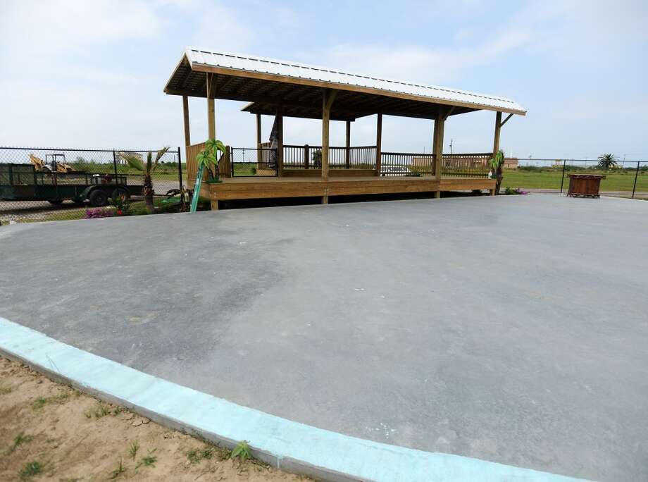 The Tiki Beach Bar and Grill has added a new stage in their outdoor area for concerts. Crystal Beach and the Bolivar Peninsula is home to several quality restaurants and bars. Photo taken Saturday 5/10/14 Jake Daniels/@JakeD_in_SETX
