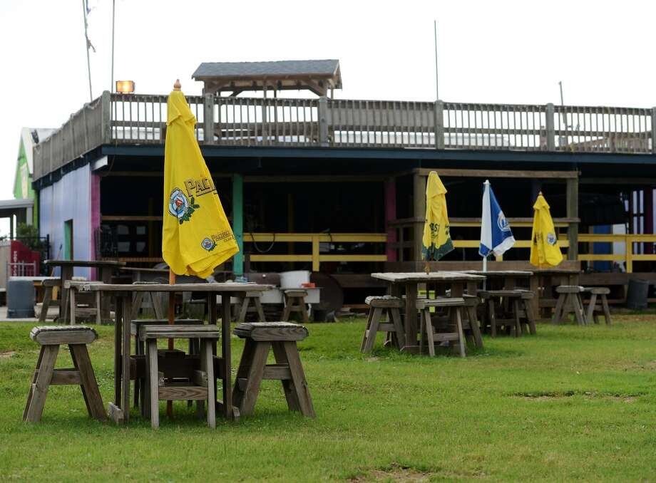Pictured are some of the open air tables at the Tiki Beach Bar and Grill on Saturday afternoon. Crystal Beach and the Bolivar Peninsula is home to several quality restaurants and bars. Photo taken Saturday 5/10/14 Jake Daniels/@JakeD_in_SETX