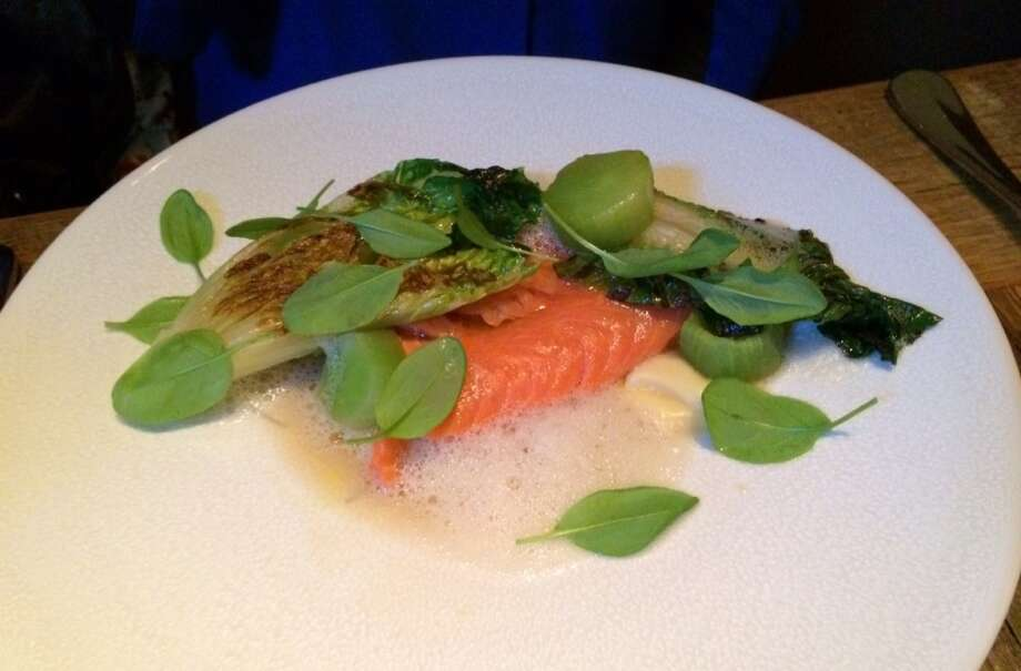 Nico: Salmon with celtuce, or Chinese lettuce, citrus and little gems ($24)