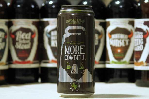 Buffalo Bayou Brewing Co. released its first canned beer, More Cowbell, this spring. The beer, a double IPA, is sold in four-packs of 16-ounce cans.