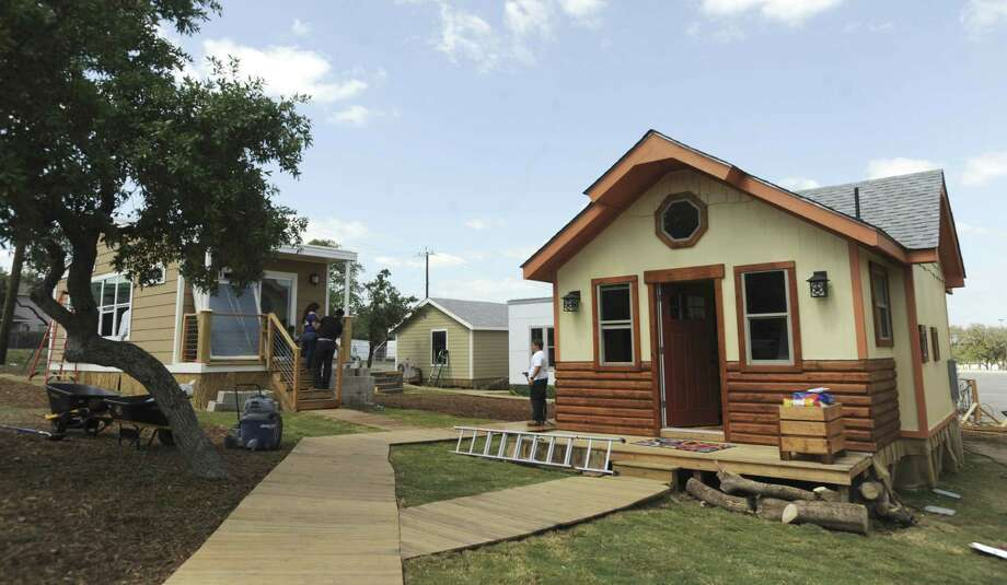 Micro homes built by students at Warren High School's Construction Careers Academy are almost ready for the mini Parade of Homes set for May 31 on the campus. Photo: Photos By Billy Calzada / San Antonio Express-News / San Antonio Express-News