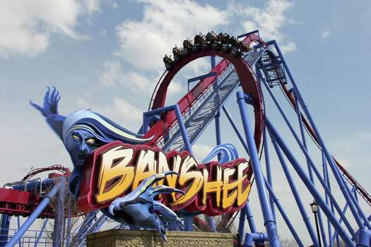 Then there's the Banshee, recently opened at the Kings Island amusement park in Kings Island, Ohio, near Cincinnati. It's named for a wailing mythological messenger from the underworld and includes a 167-foot lift hill and a 150-foot curved first drop.  Photo: Don Helbig, Associated Press / Kings Island