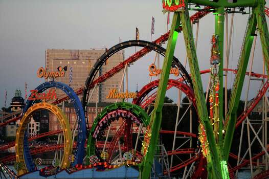 Germans like their roller coasters, Here's one in Duesseldorf. Photo: PATRIK STOLLARZ, Getty / 2013 AFP