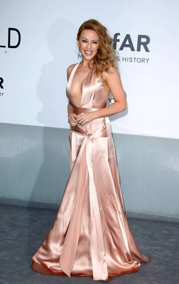 Kylie Minogue attends amfAR's 21st Cinema Against AIDS Gala. Photo: Mike Marsland, WireImage