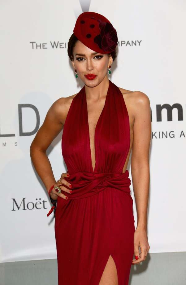 Miss Canada Sahar Biniaz attends amfAR's 21st Cinema Against AIDS Gala. Photo: Vittorio Zunino Celotto, Getty Images