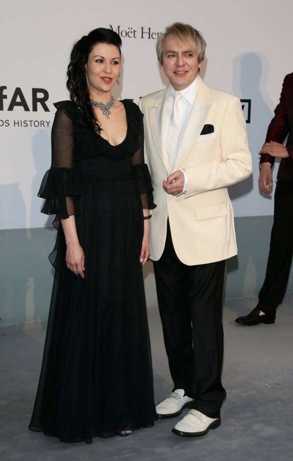 Nick Rhodes and Nefer Suvio  attend amfAR's 21st Cinema Against AIDS Gala. Photo: Vittorio Zunino Celotto, Getty Images