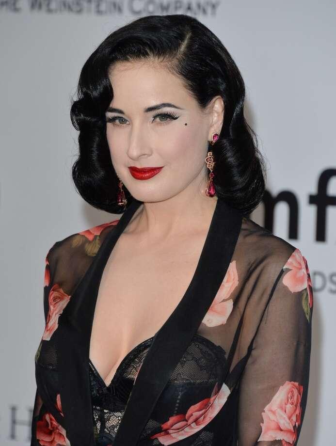 Dita Von Teese attends amfAR's 21st Cinema Against AIDS Gala. Photo: George Pimentel, WireImage