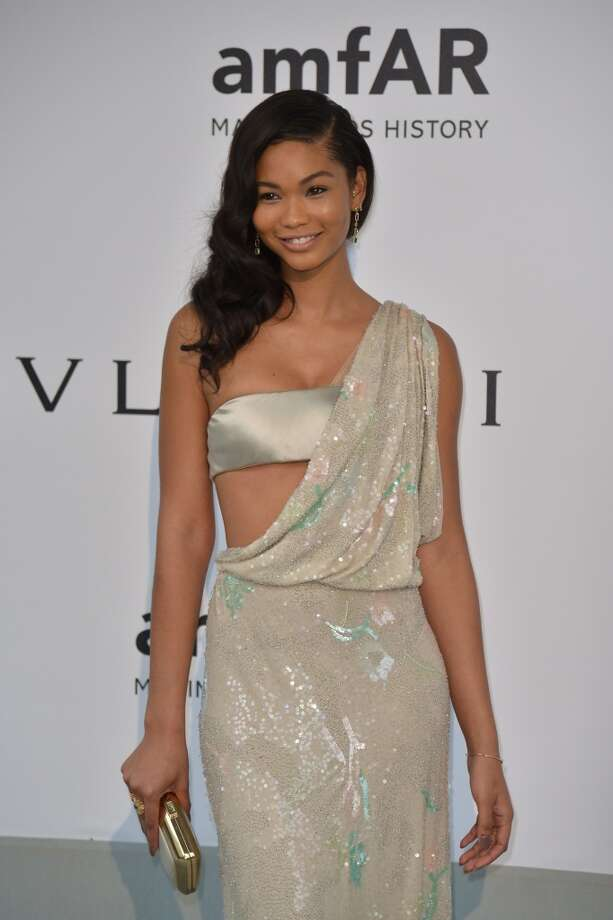 US model Chanel Iman poses as she arrives for the amfAR 21st Annual Cinema Against AIDS during the 67th Cannes Film Festival at Hotel du Cap-Eden-Roc in Cap d'Antibes, southern France, on May 22, 2014. Photo: ALBERTO PIZZOLI, AFP/Getty Images