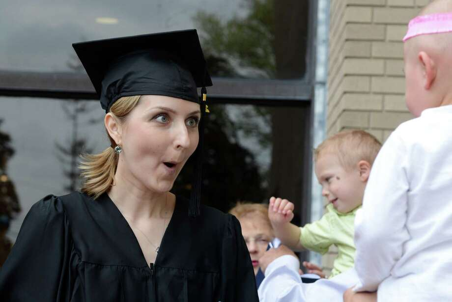 St. Vincent's College holds its 22nd annual commencement ceremony Friday, May 23, 2014, at the Arnold Bernhard Arts and Humanities Center at the University of Bridgeport. Photo: Autumn Driscoll / Connecticut Post