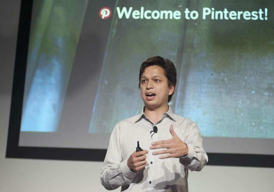 Pinterest CEO Ben Silbermann addresses a Pinterest media event at the company's corporate headquarters in San Francisco, California on April 24, 2014.  Pinterest launched a tool to help people quickly sift through the roughly 30 billion 'Pins' on the service's online bulletin boards to find what they like.      AFP PHOTO / JOSH EDELSONJosh Edelson/AFP/Getty Images Photo: JOSH EDELSON / AFP/Getty Images / Josh Edelson / AFP